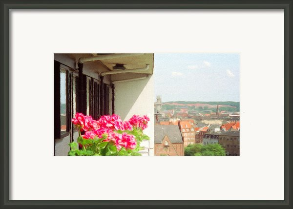 Flowers On The Balcony Framed Print By Jeff Kolker