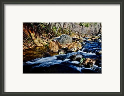 Flowing Framed Print By Jag Fergus