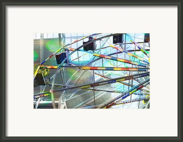 Flying Inside Ferris Wheel Framed Print By Luther   Fine Art