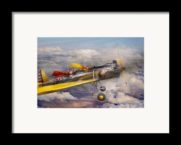 Flying Pig - Plane - The Joy Ride Framed Print By Mike Savad