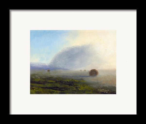 Foggy Bales Framed Print By Tommy Thompson