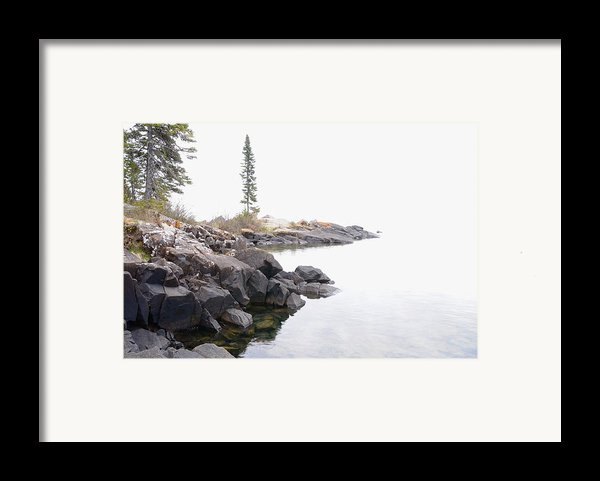 Foggy Day On Lake Superior Framed Print By Sandra Updyke