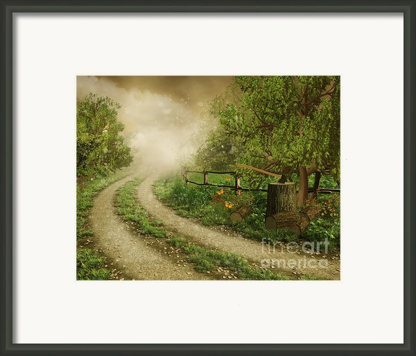 Foggy Road Framed Print By Boon Mee