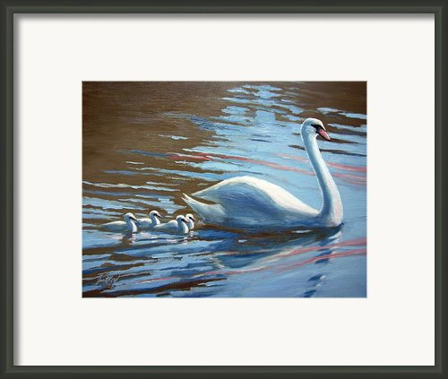 Follow The Leader Framed Print By Janet King