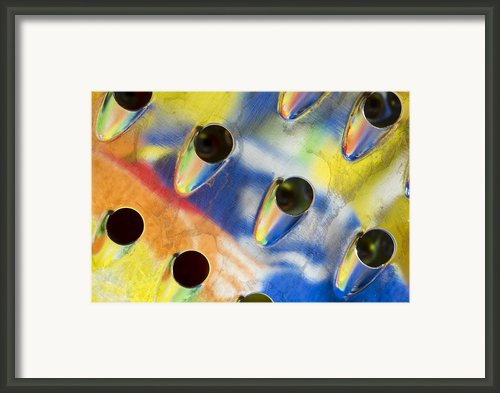 Food Grater Abstract 2 A Framed Print By John Brueske