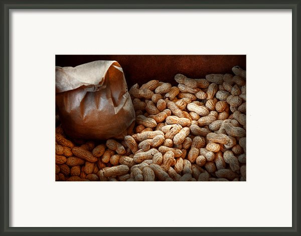 Food - Peanuts  Framed Print By Mike Savad