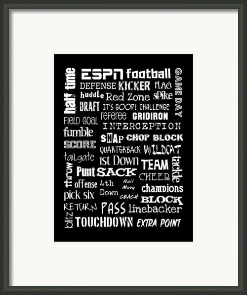 Football Subway Art Framed Print By Jaime Friedman