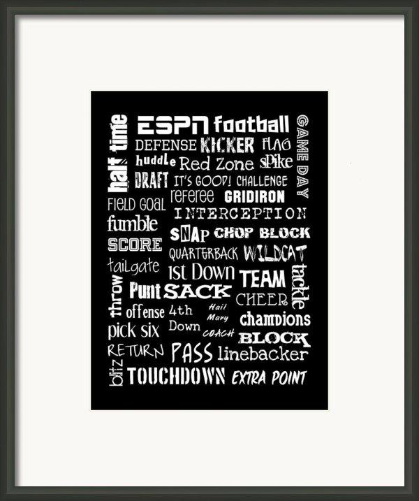 Football Subway Art Framed Print By Jaime Friedman
