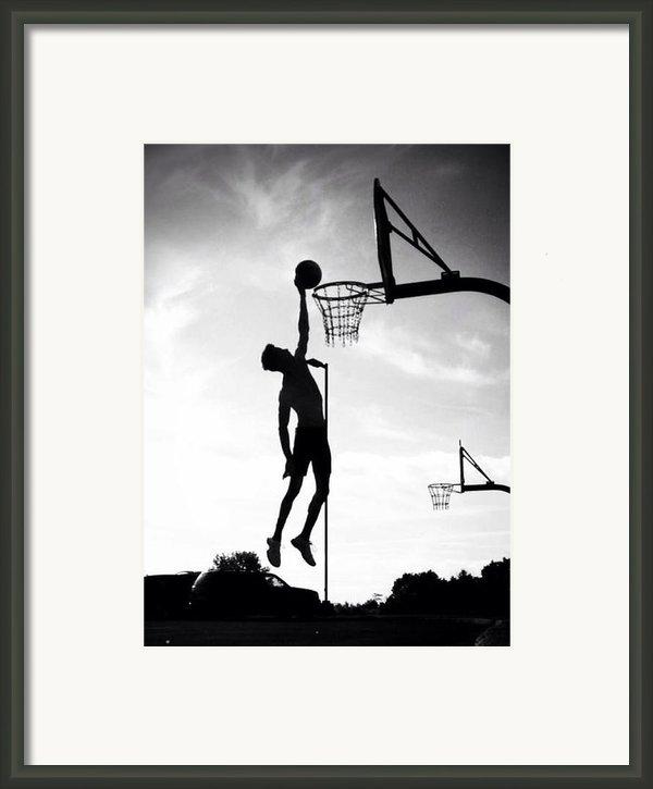 For The Love Of Basketball  Framed Print By Lisa Piper Menkin Stegeman