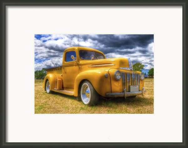 Ford Jailbar Pickup Hdr Framed Print By Phil