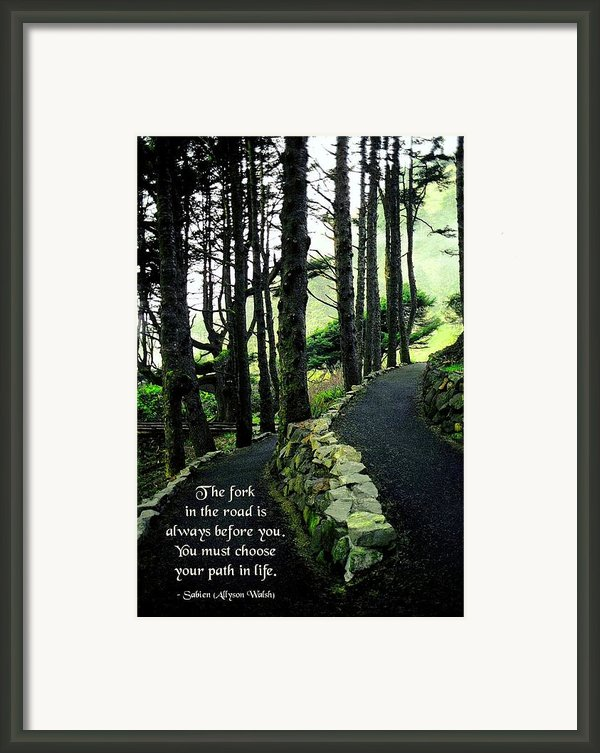 Fork In The Road Framed Print By Mike Flynn