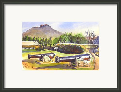 Fort Davidson Cannon Ii Framed Print By Kip Devore