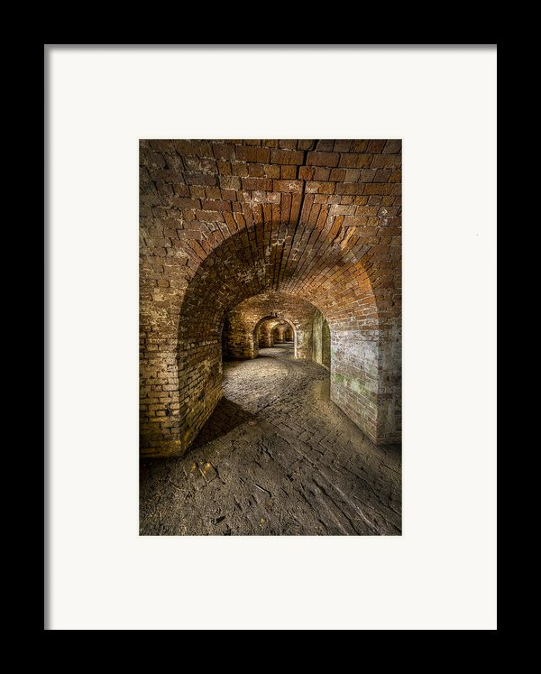 Fort Macomb Arches Vertical Framed Print By David Morefield