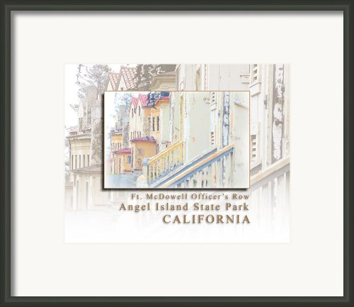 Fort Mcdowell Officers Row On Angel Island State Park California Hk Framed Print By David Rigg