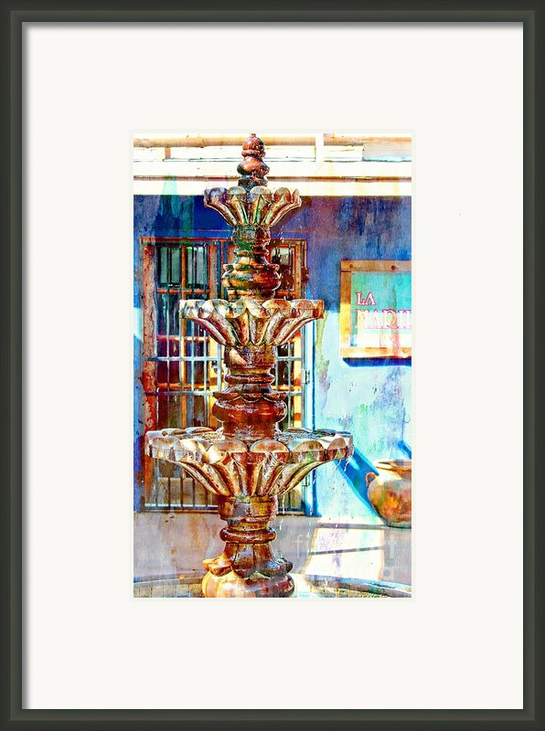 Fountain Of New Mexico Framed Print By Barbara Chichester
