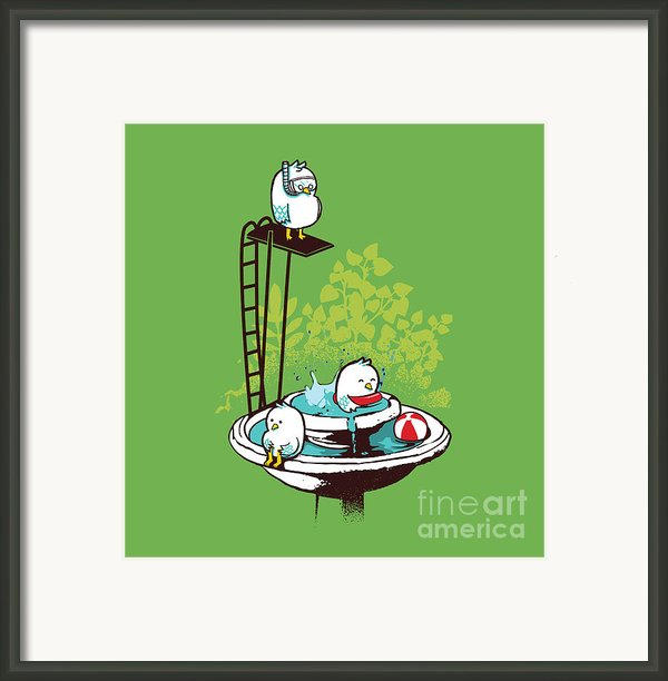 Fountain Pool Party Framed Print By Budi Satria Kwan