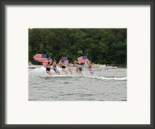 Fourth Of July On The Lake Framed Print By Susan Leggett