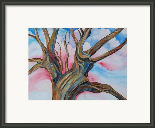 Fourth Of July - The Happy Tree Framed Print By Roy Erickson