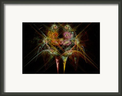 Fractal - Christ - Angels Embrace Framed Print By Mike Savad