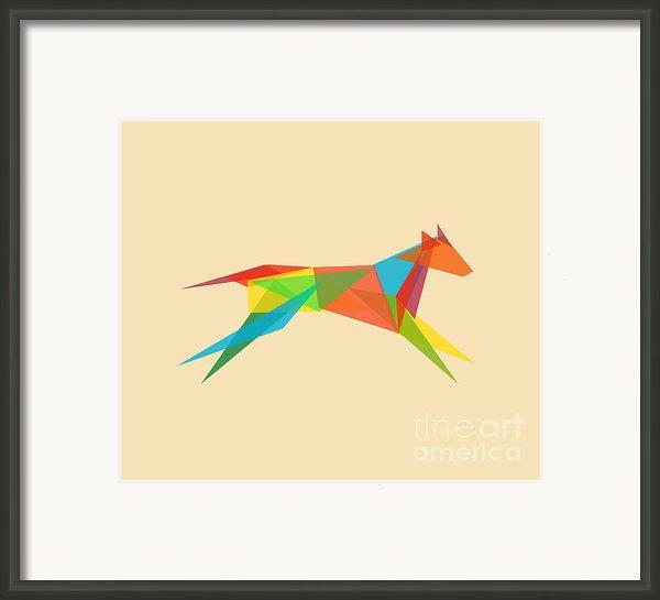 Fractal Geometric Dog Framed Print By Budi Satria Kwan