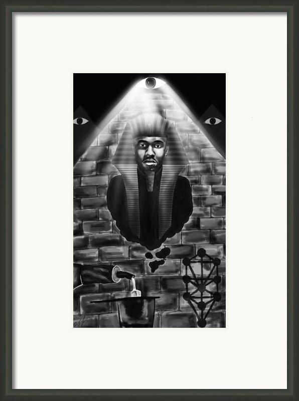 Frank Ocean Pyramids Inspired Framed Print By Kenal Louis