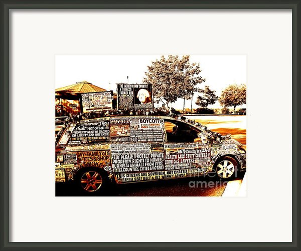 Freedom Of Speech On Wheels Framed Print By Desiree Paquette