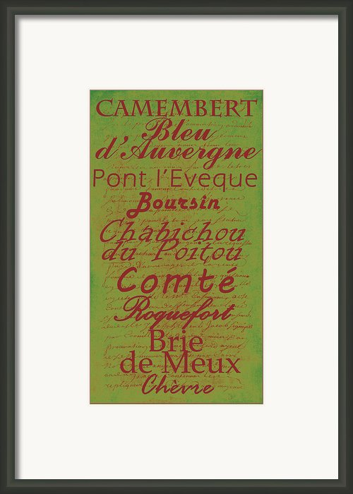 French Cheeses - 4 Framed Print By Paulette Wright