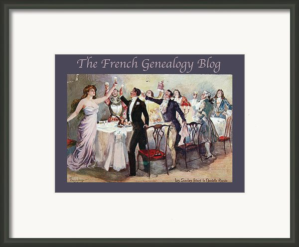 French New Year With Fgb Border Framed Print By A Morddel