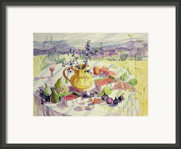 French Table Framed Print By Elizabeth Jane Lloyd
