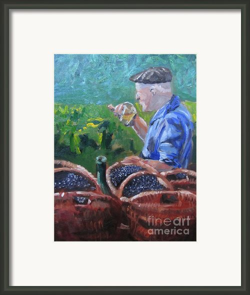 French Vineyard Worker Framed Print By Kendal Greer