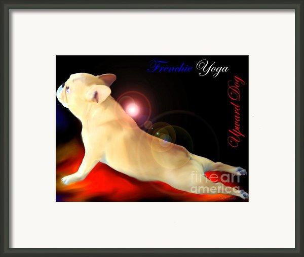 Frenchie Yoga Upward Dog Framed Print By Barbara Chichester