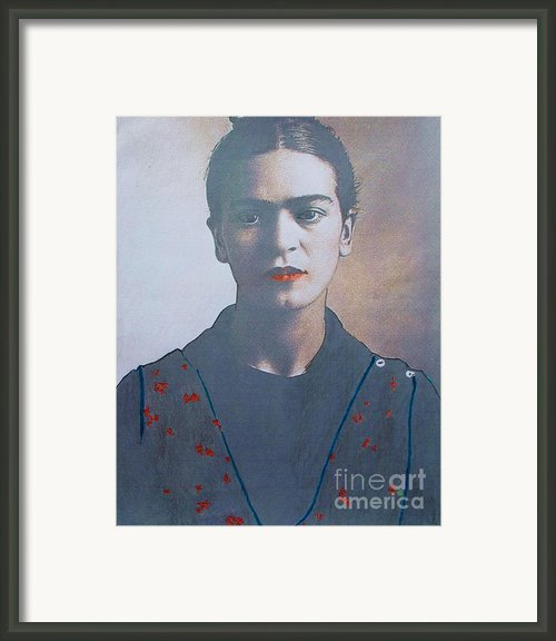 Frida In Sepia  2 Framed Print By Pg Reproductions