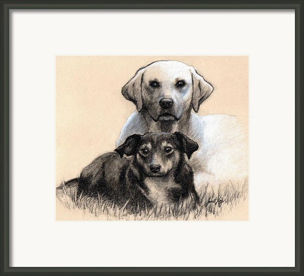 Friends Framed Print By Janet King