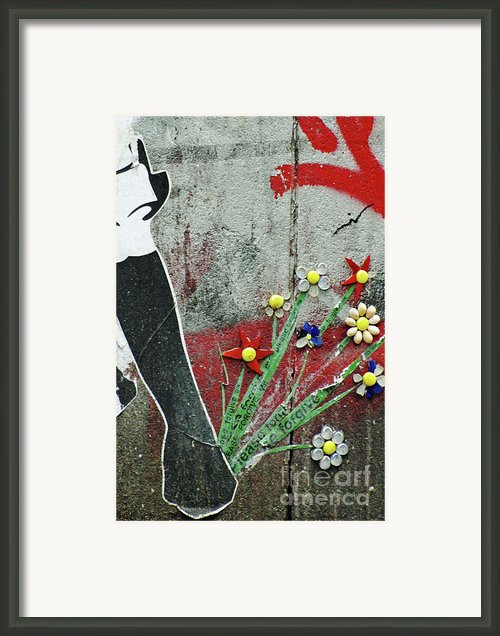 Friendship Flowers Graffiti Art Framed Print By Adspice Studios