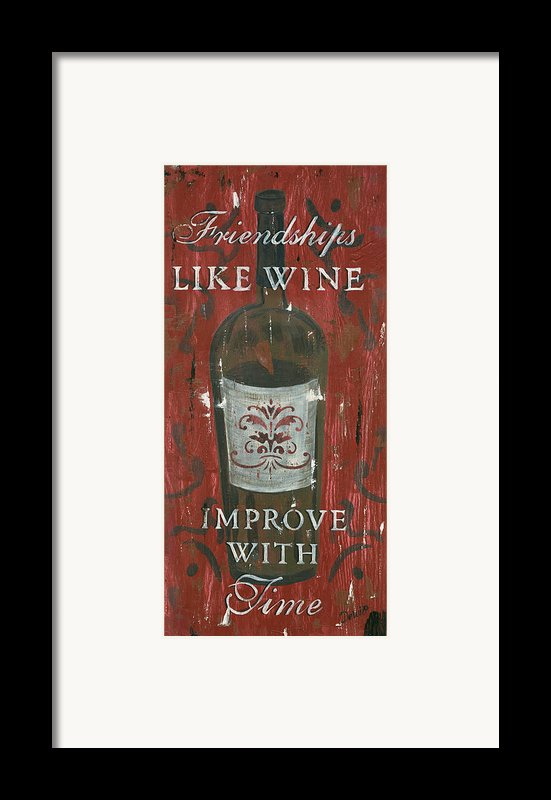 Friendships Like Wine Framed Print By Debbie Dewitt