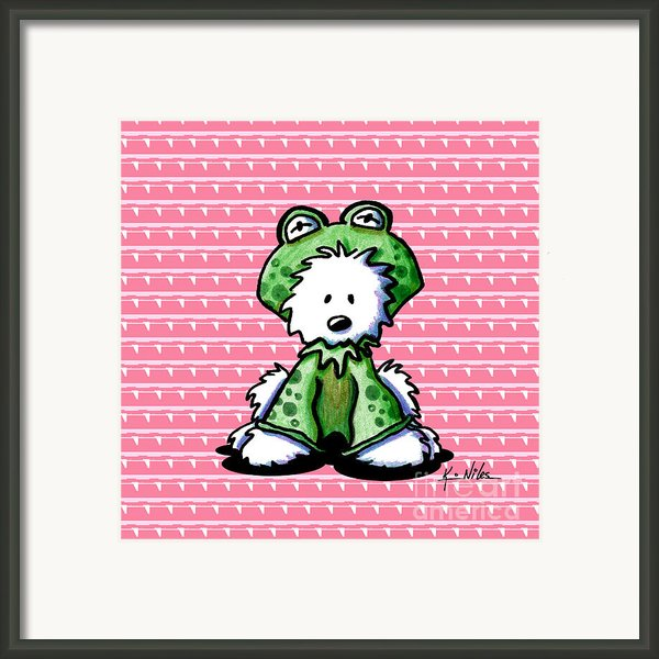 Frog Prince Westie Dog Framed Print By Kim Niles