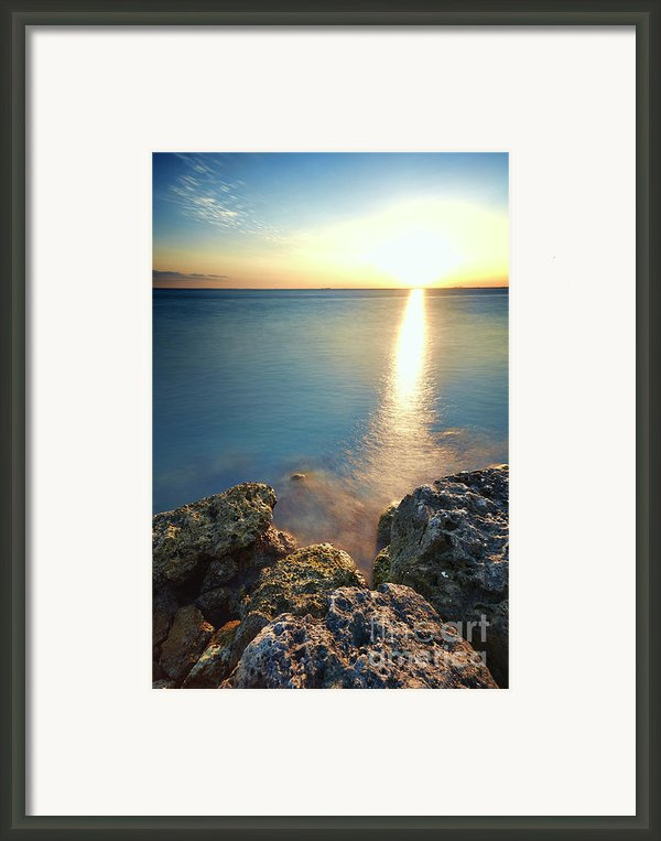 From The Sea Rocks Framed Print By Eyzen Medina