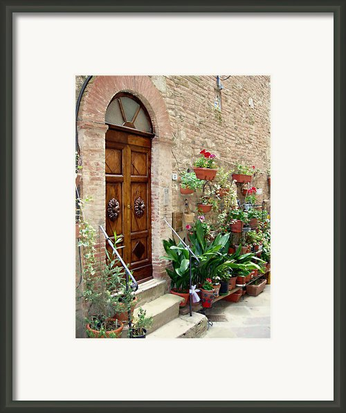Front Door Framed Print By Ellen Henneke