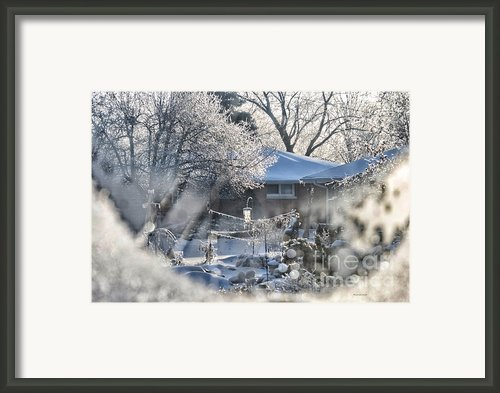 Frosty Winter Window Framed Print By Thomas Woolworth