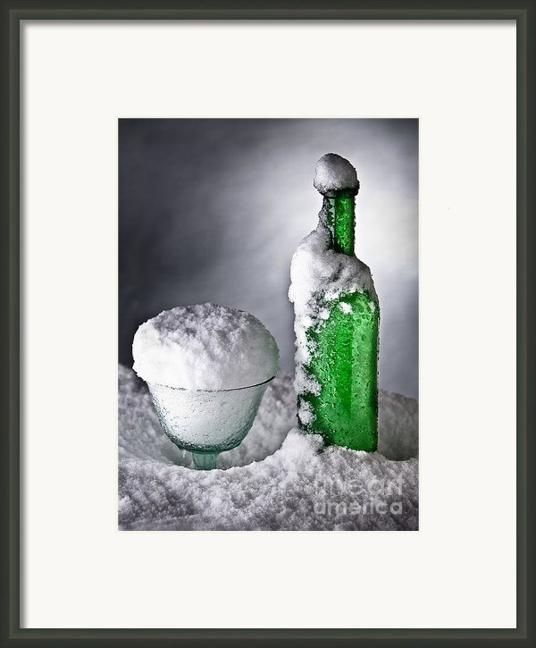 Frozen Bottle Ice Cold Drink Framed Print By Dirk Ercken