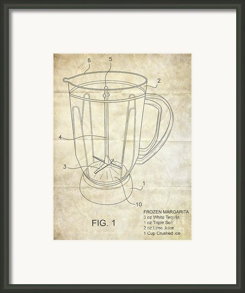 Frozen Margarita Recipe Patent Framed Print By Edward Fielding