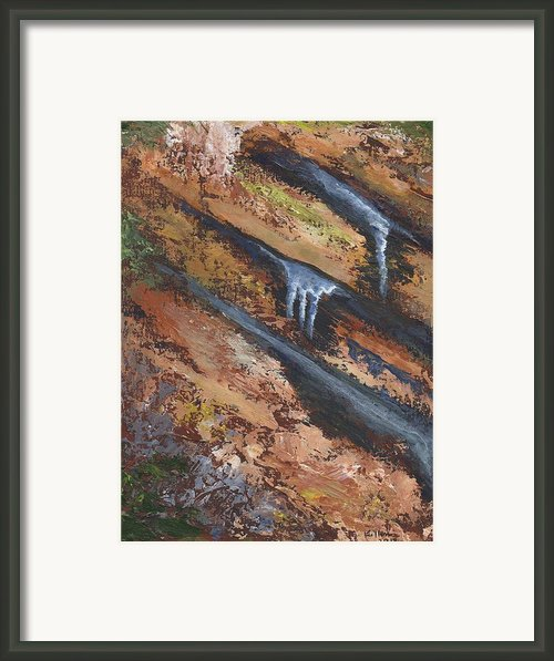 Frozen Seep Framed Print By William Killen