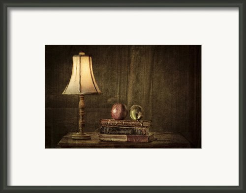 Fruit And Books Framed Print By Erik Brede