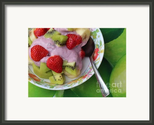 Fruit And Yogurt - Dessert - Food  Framed Print By Barbara Griffin
