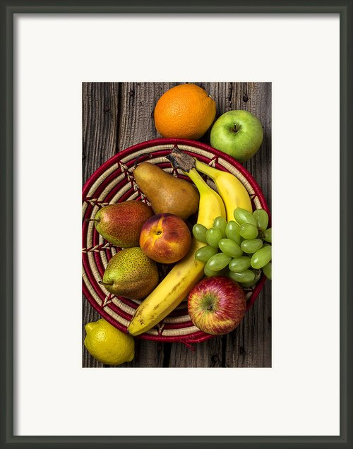 Fruit Basket Framed Print By Garry Gay