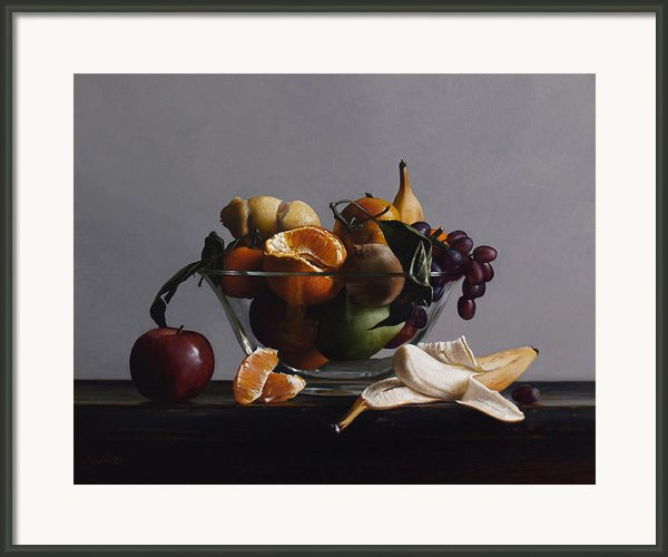 Fruit Bowl No.2 Framed Print By Larry Preston