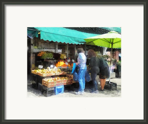 Fruit For Sale Hoboken Nj Framed Print By Susan Savad