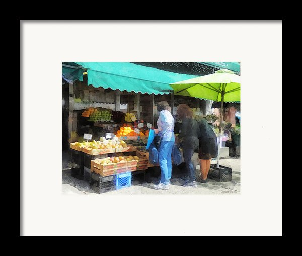 Fruit For Sale Hoboken Nj Framed Print By Susan Savad