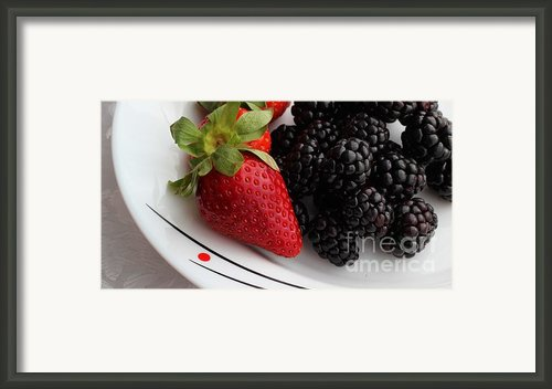 Fruit Ii - Strawberries - Blackberries Framed Print By Barbara Griffin