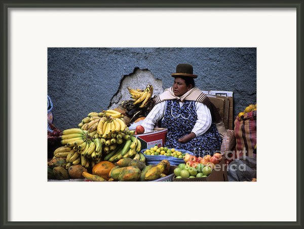 Fruit Seller Framed Print By James Brunker